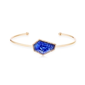August Woods Blue Lapis & Rose Gold Bangle