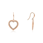 August Woods Rose Gold Crystal Heart Earrings