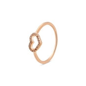 August Woods Rose Gold Open Heart Ring