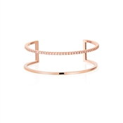 Dirty Ruby Rose Gold Double Bangle