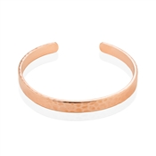 Dirty Ruby Rose Gold Inscribed Open Bangle