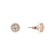 Rose Gold Crystal Stud Earrings by August Woods
