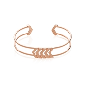 Dirty Ruby Rose Gold Open Arrow Bangle
