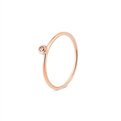 Dirty Ruby Rose Gold Stacking Ring
