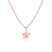 Dirty Ruby Rose Gold Crystal Star Necklace