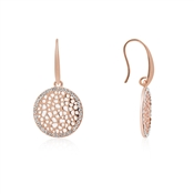 August Woods Rose Gold CZ Circle Drop Earrings