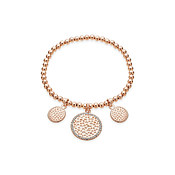 August Woods Rose Gold CZ Circle Drop Bangle