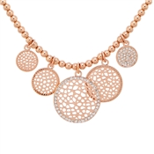 August Woods Rose Gold CZ Circles Necklace