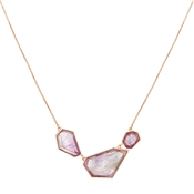 August Woods Amethyst & Rose Gold Necklace