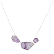 August Woods Amethyst & Silver Necklace