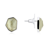 August Woods Grey Mother Of Pearl Stud Earrings