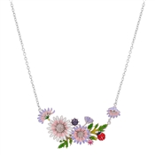 August Woods Silver Ladybird Garden  Necklace