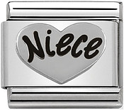 Nomination Silver Niece Charm