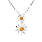 Argento Double Daisy Necklace