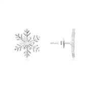 Argento Snowflake Stud Earrings