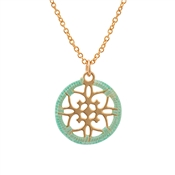Karma Green Flowerbesque Gold Necklace