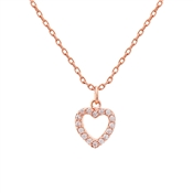 Karma Rose Gold Crystal Heart Necklace