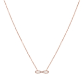 Karma Rose Gold Infinity Necklace