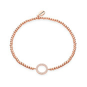 Rose Gold Circle Beaded Bracelet by Karma