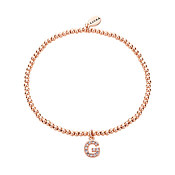 Rose Gold Letter G Bracelet by Karma