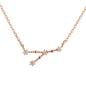 Dirty Ruby Cancer Constellation Necklace