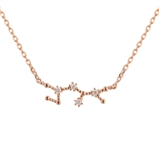 Dirty Ruby Sagittarius Constellation Necklace
