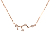 Dirty Ruby Virgo Constellation Necklace