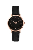 Larsson & Jennings  Lugano 26mm Black & Rose Gold Watch
