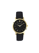 Larsson & Jennings  Lugano 33mm Gold & Black Watch