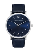 Larsson & Jennings  Lugano 38mm Navy Leather Watch