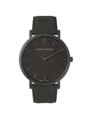 Larsson & Jennings  Lugano 40mm All Black Leather Watch