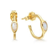Missoma Gold Magma Moonstone Mini Hoops