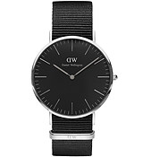 Daniel Wellington Classic Black Cornwall Silver Watch