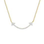 Missoma Gold Pave Double Arrow Necklace