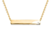 Missoma Gold Diamond Bar Necklace
