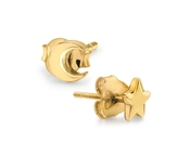 Missoma Gold Star & Moon Studs