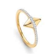 Missoma Gold Pave Double Arrow Ring
