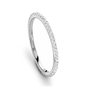 Missoma Silver Pave Infinity Ring