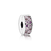 PANDORA Purple Mosaic Shining Elegance Spacer Clip