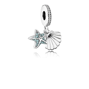 PANDORA Tropical Starfish & Sea Shell Pendant Charm