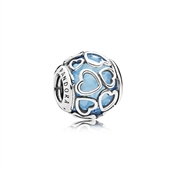 PANDORA Blue Encased in Love Charm