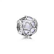 PANDORA Opalescent Encased in Love Charm