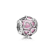 PANDORA Pink Encased in Love Charm