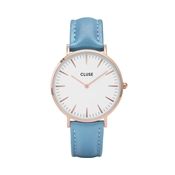 CLUSE La Bohème Rose Gold & Retro Blue Watch
