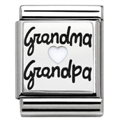 Nomination Big Silver Grandma & Grandpa Charm