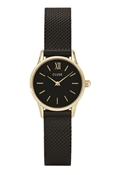 CLUSE La Vedette Black & Gold Mesh Watch