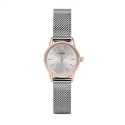 CLUSE La Vedette Rose Gold & Silver Mesh Watch