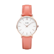 CLUSE Minuit Rose Gold & Flamingo Watch