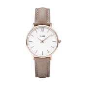 CLUSE Minuit Rose Gold & Hazelnut Watch