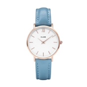CLUSE Minuit Rose Gold & Retro Blue Watch